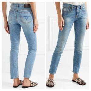 R13 Alison Skinny Ankle Jeans in Jasper Wash 28